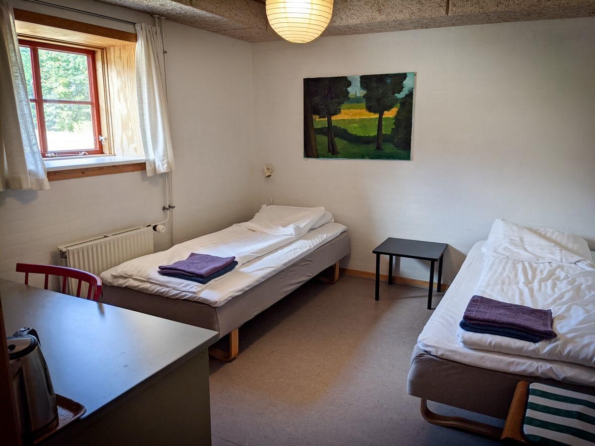 Overnatning på Skærum Mølle - værelse