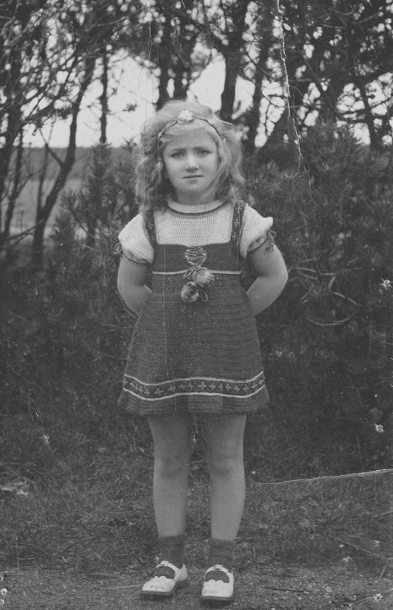 Gudrun Aspel som barn