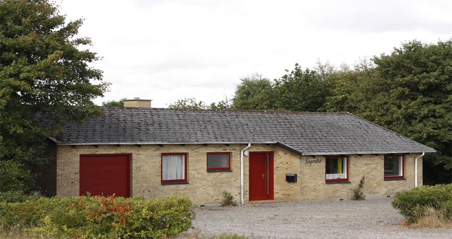 Det gule hus tilhørende Skærum Mølle